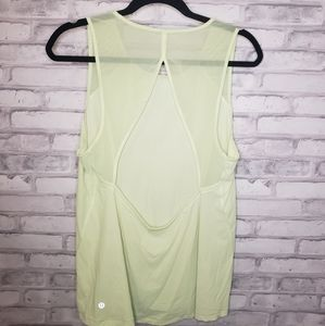 Lululemon mesh cut out back tank